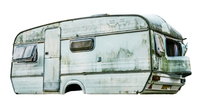 Beat Up Trailer - Cash for Clunkers - Junk Car Cash Out